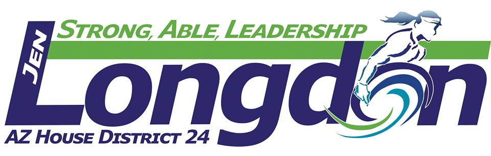 Logo: Jen Longdon for House. Strong Able Leadership LD 24