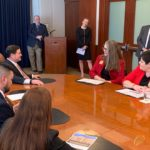 Rep. Jennifer Longdon speaking with fellow lawmakers