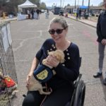 Jen Longdon with adoptable dog