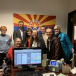 Reps. Jennifer Longdon and Amish Shah meet with early childrhood supporters of ECDay at Capital - March 11, 2020 (Photo: FirstThingsFirst @AZFTF)