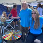 Jen Longdon with constituents at Melrose Street Fair, March 7, 2020