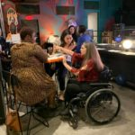Jen Longdon chatting with supporters at Campaign Kickoff- November 6, 2019
