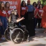 Jen Longdon speaks at Moms Demand Action event - February 20, 2020 (Photo: Copper Courier | @CopperCourier)