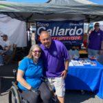 Jen Longdon with Steve Gallardo at Melrose Street Fair, March 7, 2020