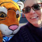 Jen Longdon with tiger