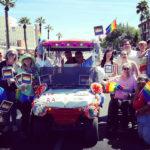 Jen Longdon and others at 2019 Pride parade