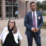 Rep. Jennifer with Rep. Amish Shah at AZ Capital (Photo credit: Gage Skidmore)