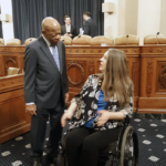 Rep. Jennifer Longdon at Congressional Hearing speaking with The Honorable John Lewis 2019-09-26 p