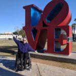 Jen Longdon at Scottsdale LOVE sculpture