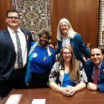 Rep. Jennifer Longdon with Paul Penzone Barbara Lewkowitz Brenton Clark and Lisa Schoop on AZ House floor - January 17, 2020
